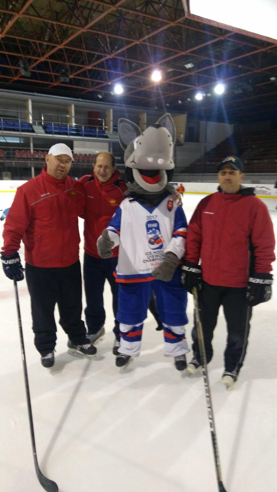 Treneri na akci Deti na hokej